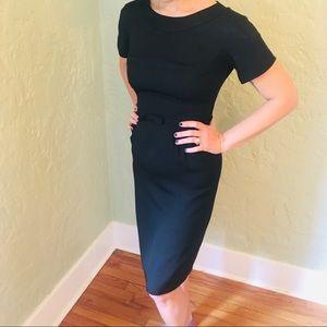 Vintage Black Wiggle Dress